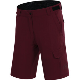Protective P-Deer Dance Cycling Shorts Women, deep red